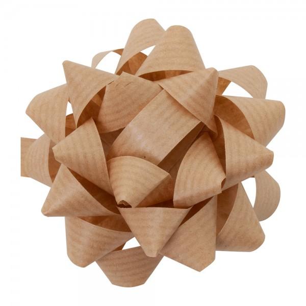 Fertigschleifen aus Papier Susi Ø 8cm Naturbraun