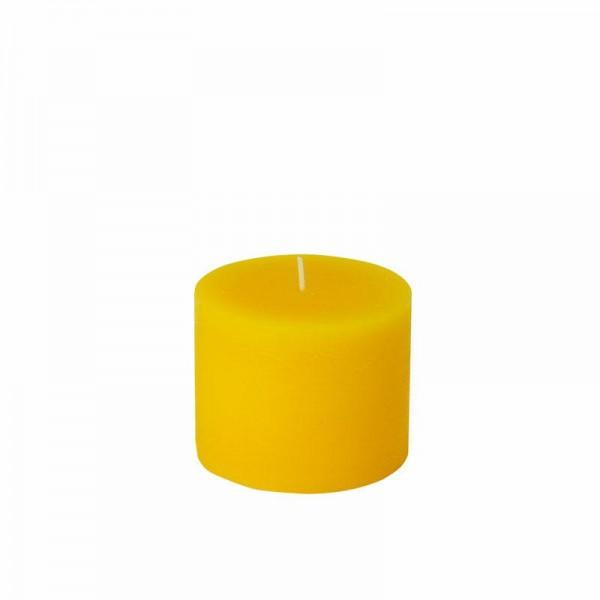 Stumpenkerze Rusti 80 mm Ø 100 mm gelb