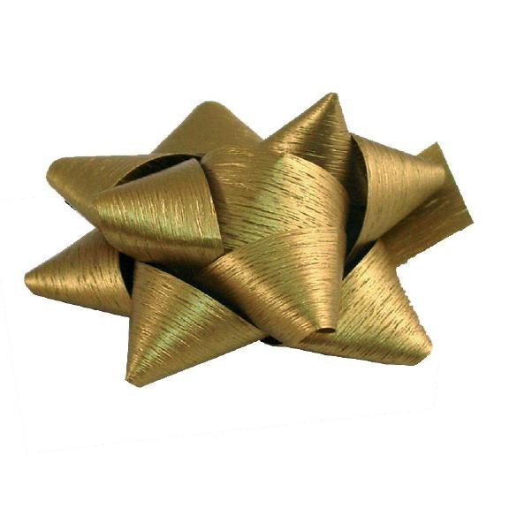 Fertigschleifen Ø6,5cm 14mm matt gold