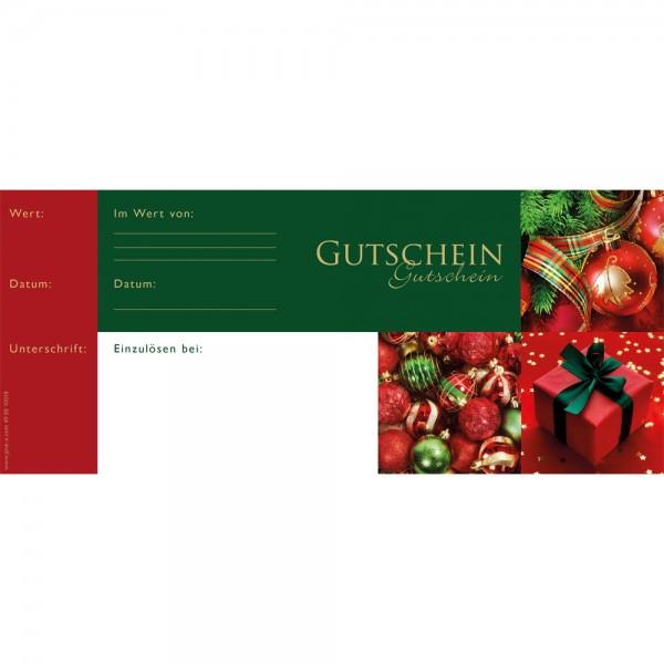 Gutschein Schecks 24.5x10.5 cm Classic Christmas