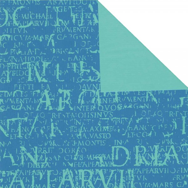 Geschenkpapier Rolle 50cm 250Meter Epigramm blau