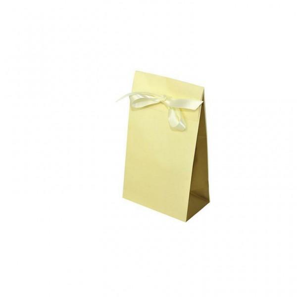 Geschenktasche creme/gold 140x80x230+55mm