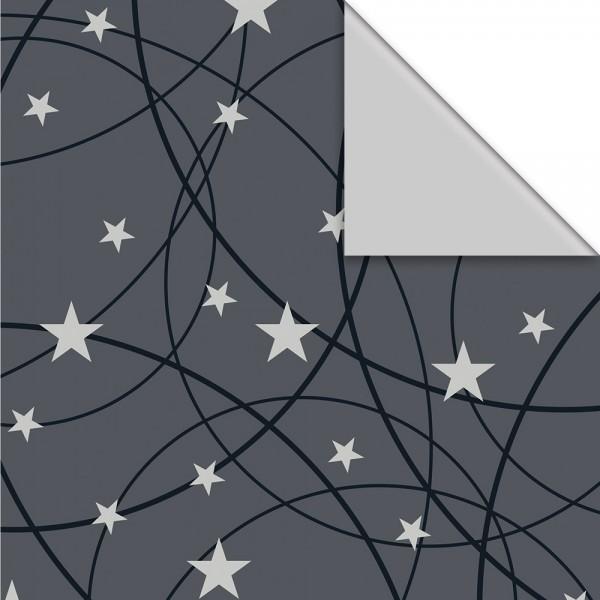 Geschenkpapier Rolle 50cm 50Meter Kina grau/silber