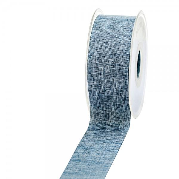 Geschenkband Leinenoptik 40mm 20Meter Jeansblau