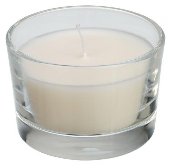 DUNI Kerzenglas Ibiza Ø 85 mm weiß