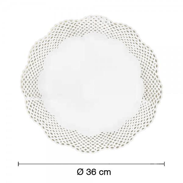 Tortenspitzen weiß rund Ø 36cm