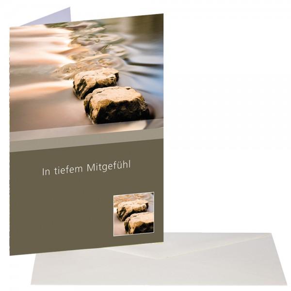 Trauerkarte Steine
