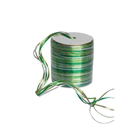 Raphia Multi Pearl Rolle 50Meter grün/silber