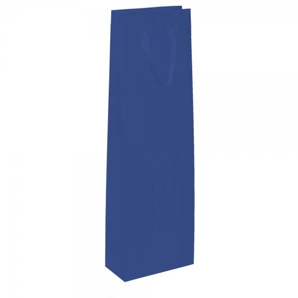 Flaschen Tragetaschen 9x9x38+5cm blau