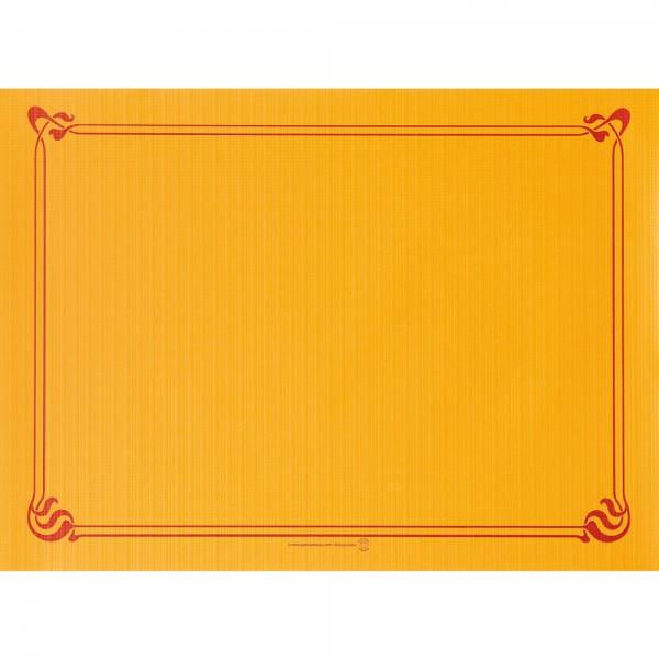 Papier Tischset uni 31x43cm Mandarin