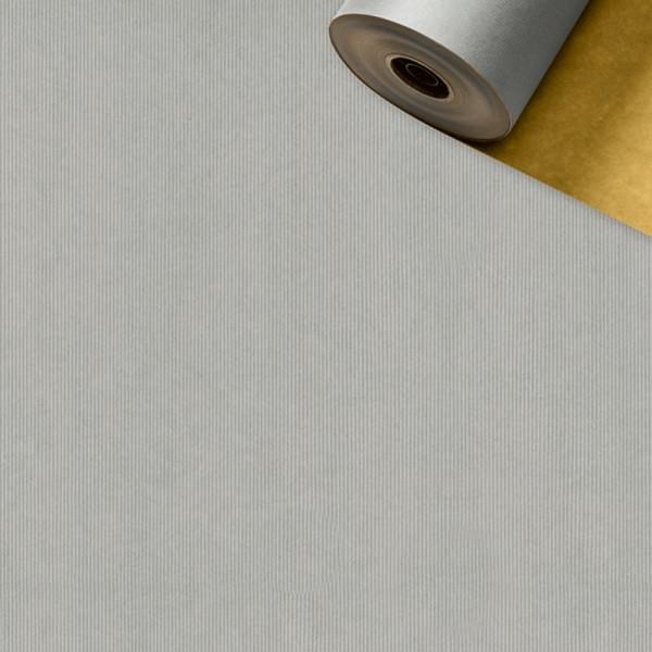 Geschenkpapier Rolle 50cm 250Meter silber/gold