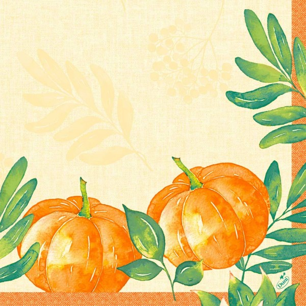 DUNI Klassik Serviette 40x40 cm 1/4F.Pumpkin Spice