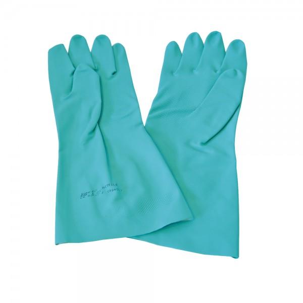 Nitril Chemikalienschutz-Handschuhe Größe M/8 L=33cm grün