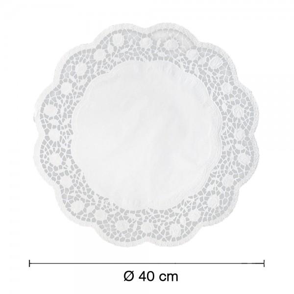 Tortenspitzen weiß rund Ø 40cm