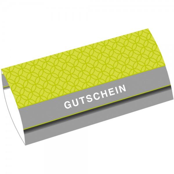 Gutschein-Klappkarte DIN Lang Circles Grün