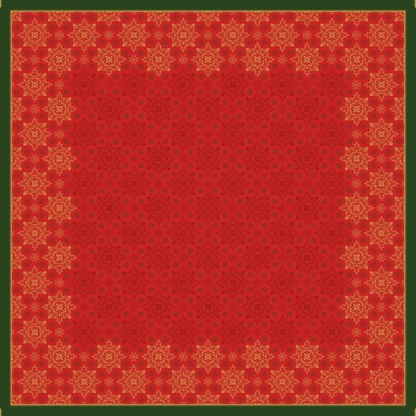 DUNI Mitteldecke 84x84cm Xmas deco red