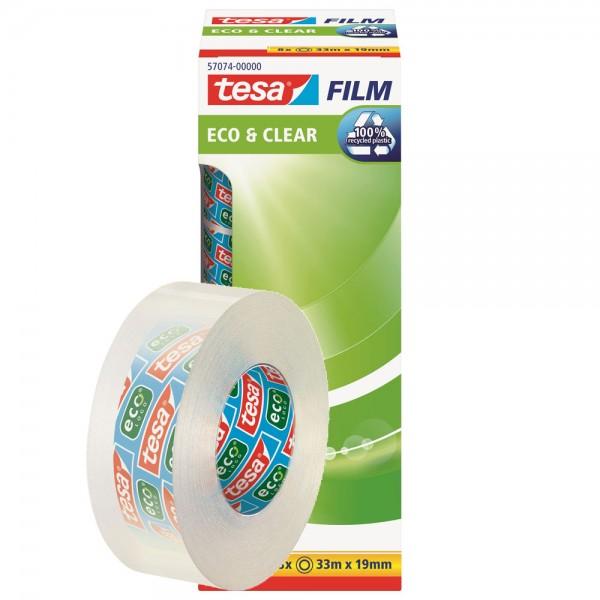 Klebefilm tesa Eco & Clear 19mm 33Meter recycling