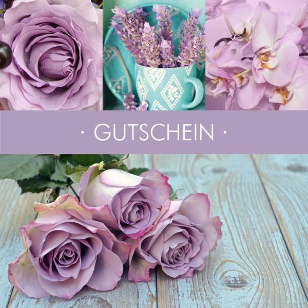 Gutschein-Klappkarte Vintage Rosen altrosa