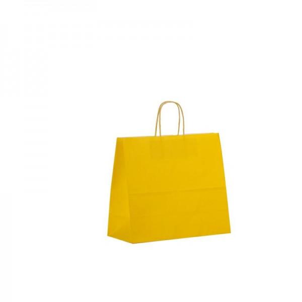Papier Tragetaschen 32x13x28cm gelb