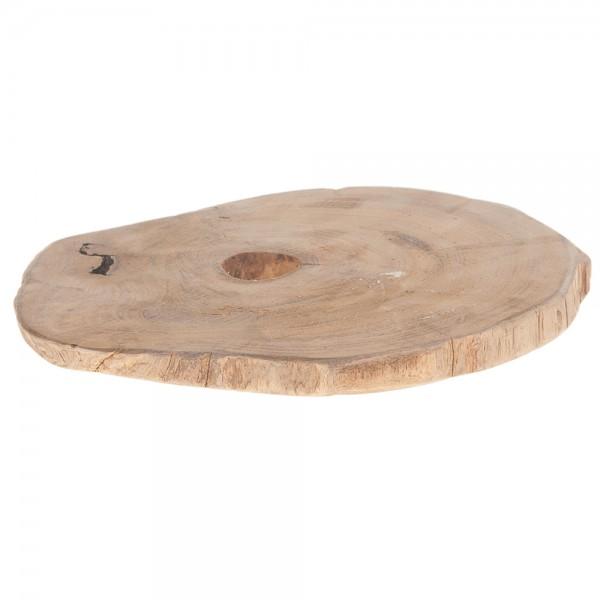 Holzscheibe aus Teakholz natur 23x23x2 cm