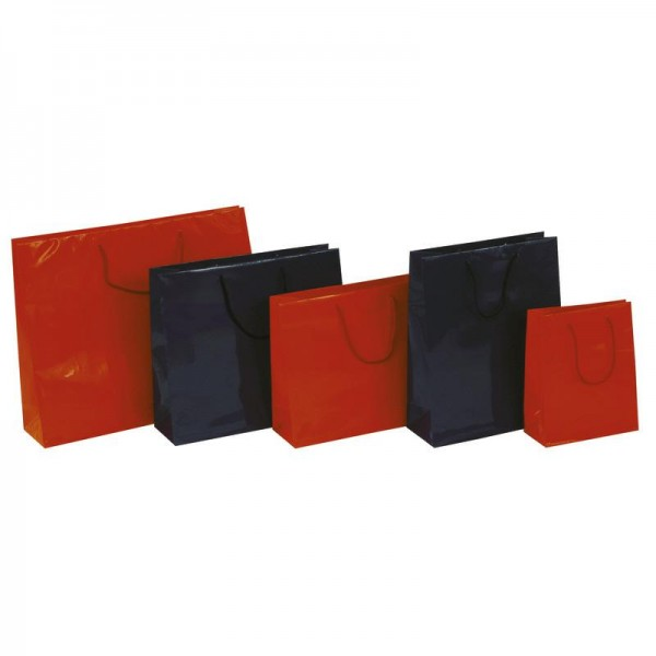 Tragetasche 22x10x27+5cm rot mit BW Kordel