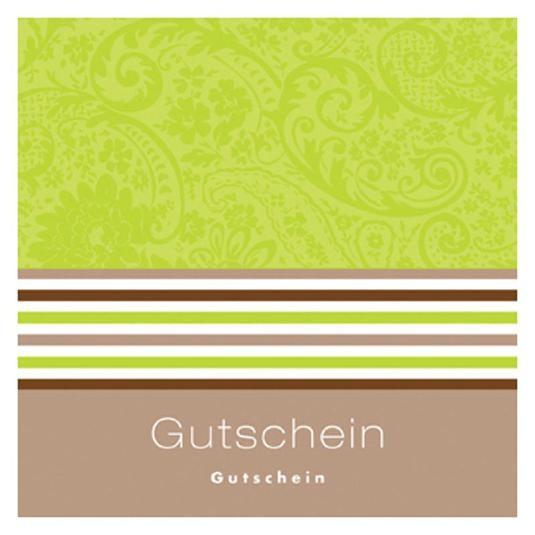 Gutschein-Klappkarte hellgrün/beige