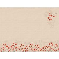 DUNI Tischset Papier 30 x 40 cm Kraft Berries