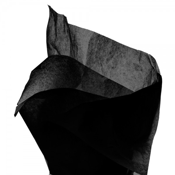 Seidenpapier Bogen 50x76 cm schwarz