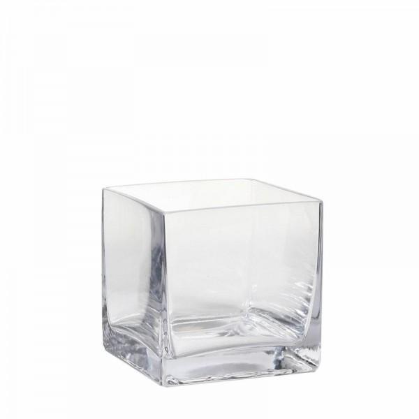 Glas Vase viereckig 12x12x12cm