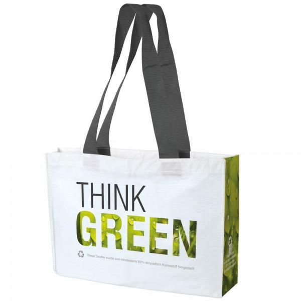 """Shoppingtasche """"THINK GREEN"""" 43x14x33+5cm"""
