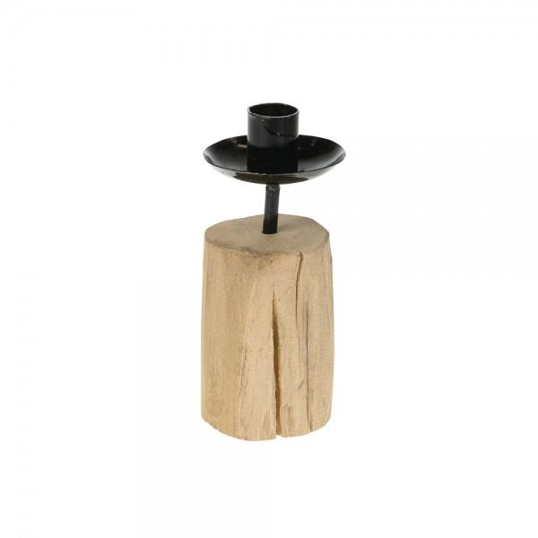 Kerzenhalter aus Holz 7x7x16 cm Nora