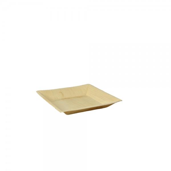 Teller quadratisch aus Palmblatt 16 x 16 x 1,5 cm
