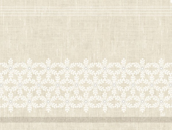 DUNI Tischset Papier 30 x 40 cm Linen Snow