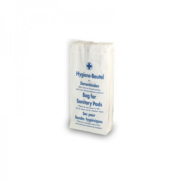 Hygienebeutel weiß 12x5x23cm