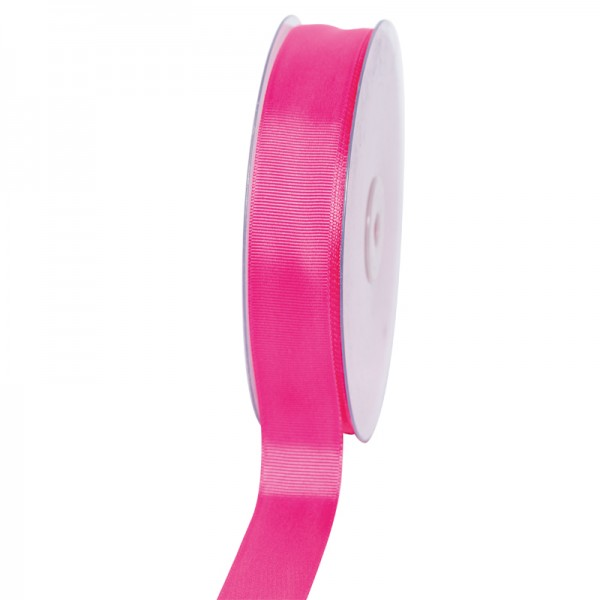 Geschenkband Grosgrain 25 mm/50Meter pink