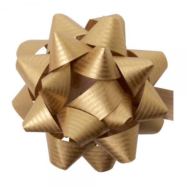 Fertigschleifen aus Papier Susi Ø 8cm Gold