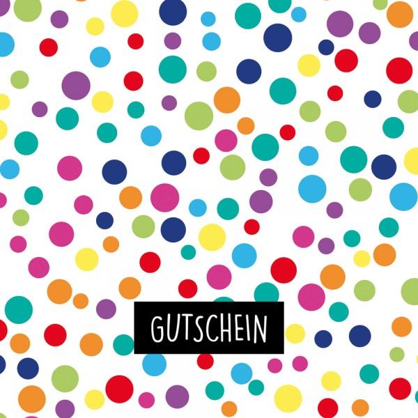 Gutschein-Klappkarte Konfetti
