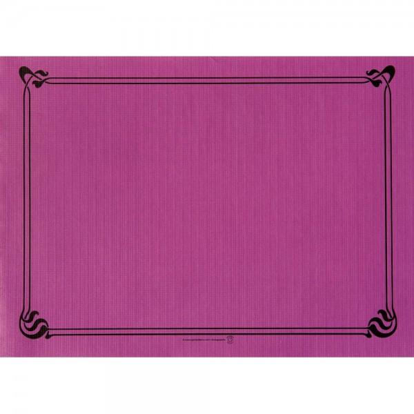 Papier Tischset uni 31x43cm plum