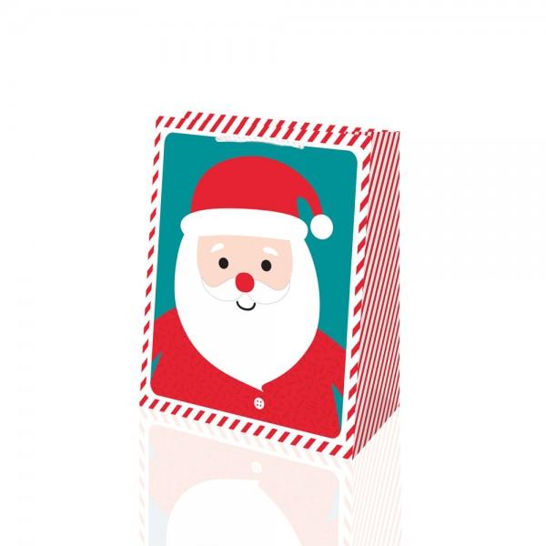 Tragetaschen Santa Selfie 18x10x23 cm