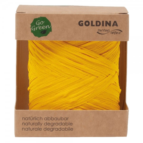 Raffia Band biologisch abbaubar 10mm/50Meter Gelb