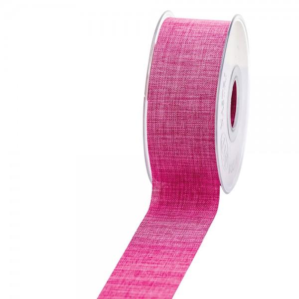 Geschenkband Leinenoptik 40mm 20Meter Pink
