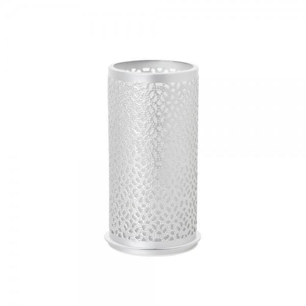 DUNI Kerzenhalter aus Metall 140 x 75 mm Bliss Silber