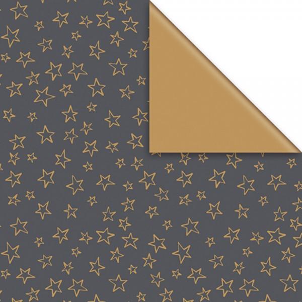 Geschenkpapier Rolle 50cm 50m Limar schwarz