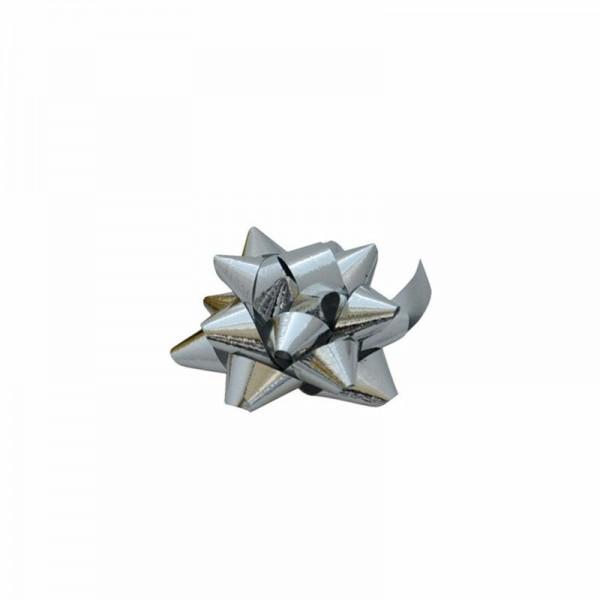 Fertigschleifen Ø5cm silber metallic 631