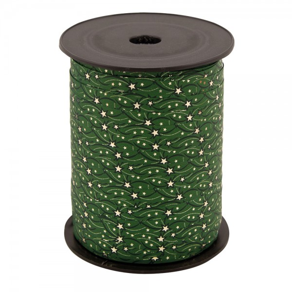 Polyband metallic Stars grün/gold 7mm 250m