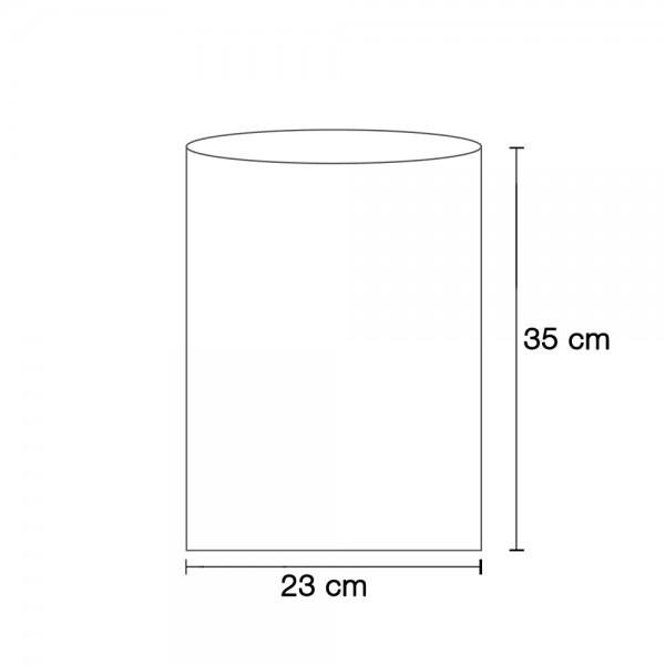Flachbeutel weiß 23x35 cm