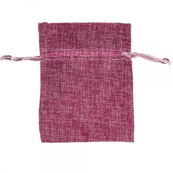 Säckchen in Leinenoptik 9 x 12 cm Pink