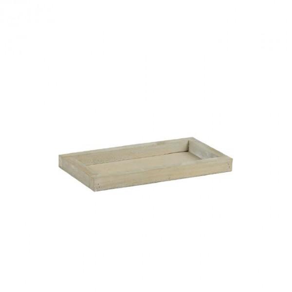 Holztablett 28x15x2,5 cm braun