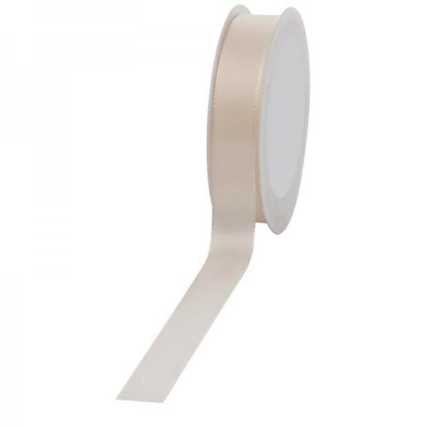 Geschenkband Stoff 25mm / 50Meter creme