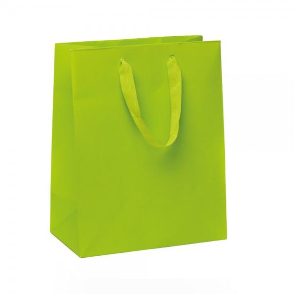 Kordel Tragetaschen 18x10x22,7+4cm grün